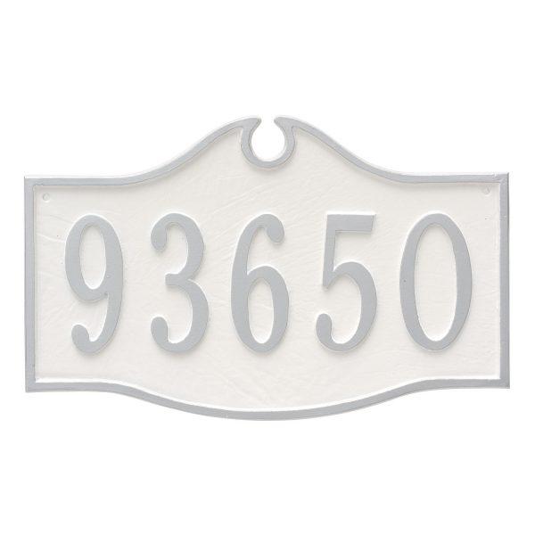 Colonial Estate One Line Address Sign Plaque
