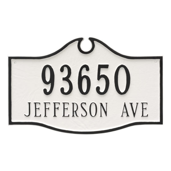 Colonial Standard Two Line Address Sign Plaque