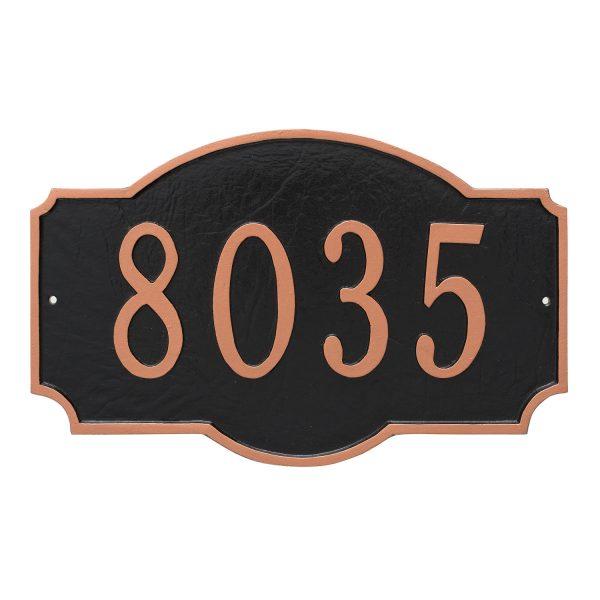 Montague Standard One Line Address Sign Plaque