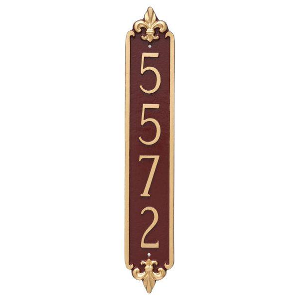 Fleur de Lis Column Address Sign Plaque