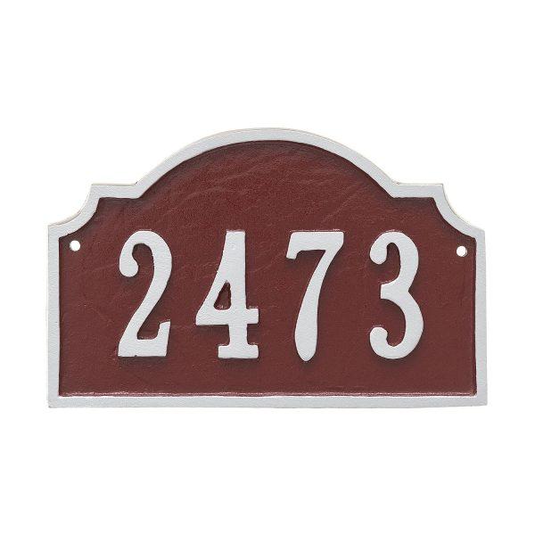 Vanderbilt Petite Address Sign Plaque