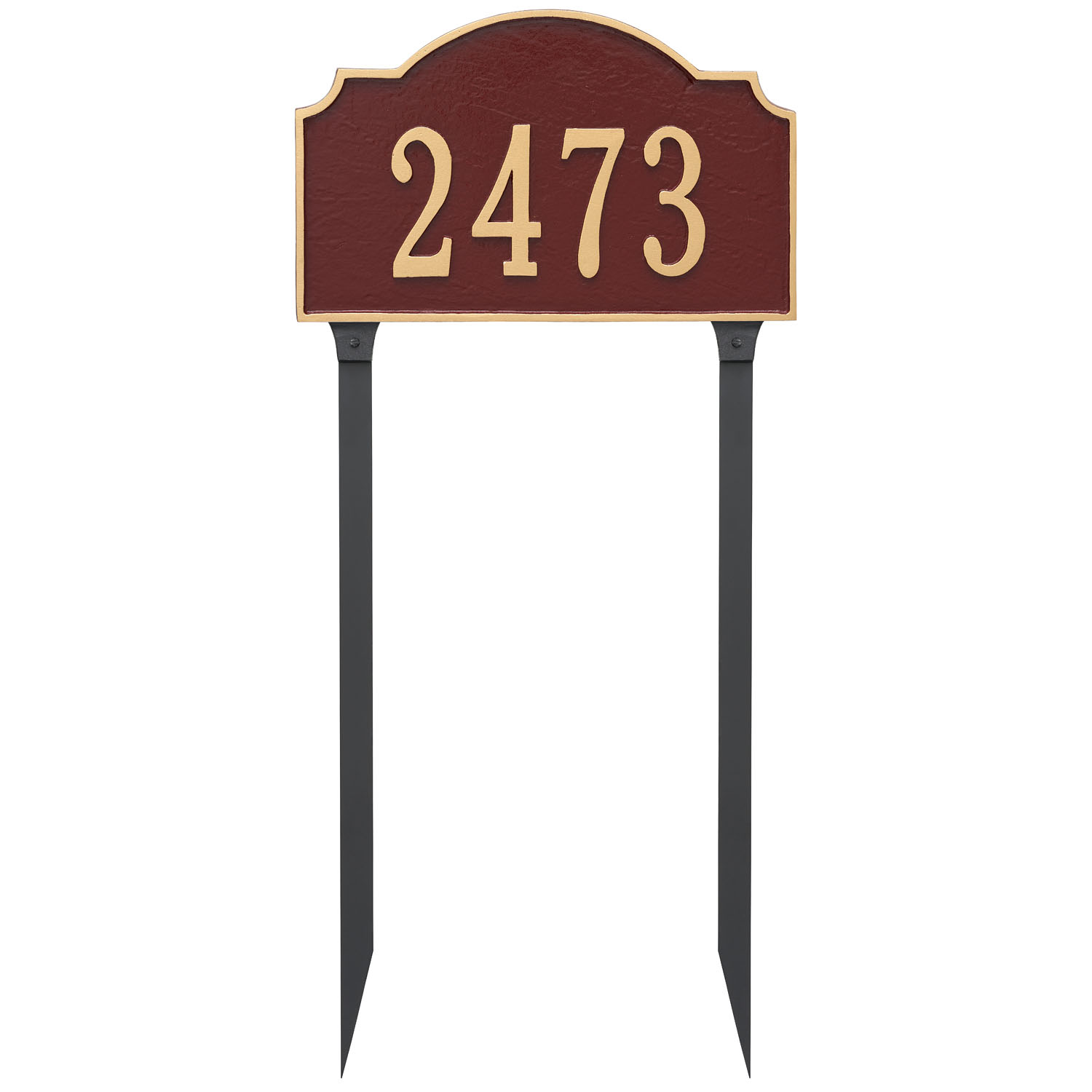 Vanderbilt Standard One Line Address Sign Plaque With Lawn Stakes Montague Metal Products