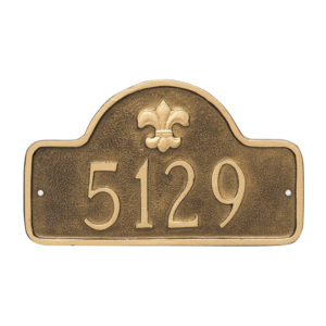 Fleur de Lis Lexington Arch Petite Address Sign Plaque