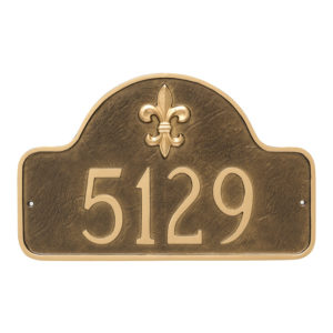 Fleur de Lis Lexington Arch Large One Line Address Sign Plaque