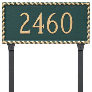 Franklin Rectangle One Line Address Sign Plaque with Stakes