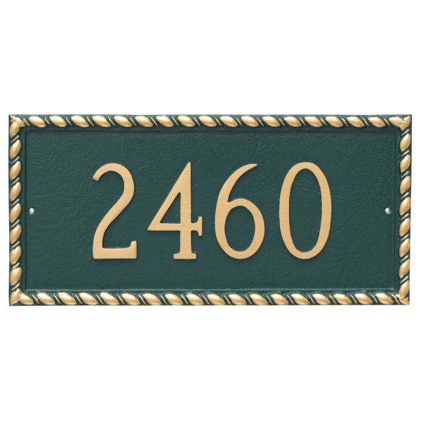 Franklin Rectangle One Line Address Sign Plaque