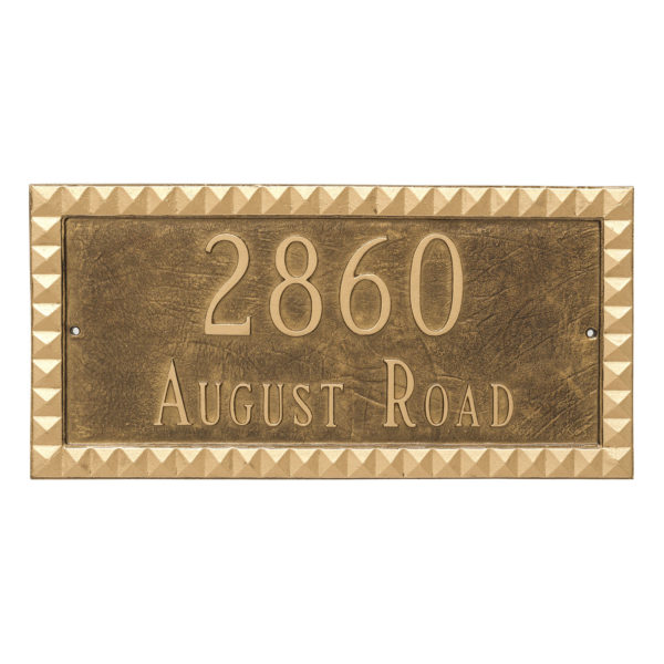 Cairo Rectangle Two Line Address Sign Plaque