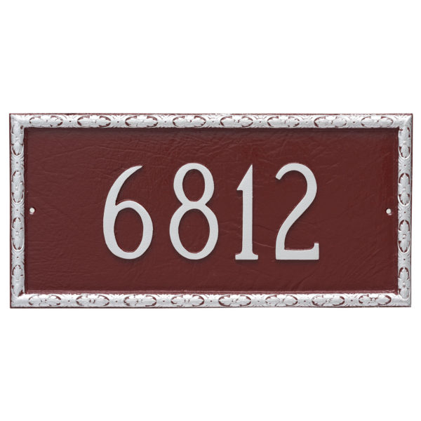 Jefferson Rectangle One Line Address Sign Plaque