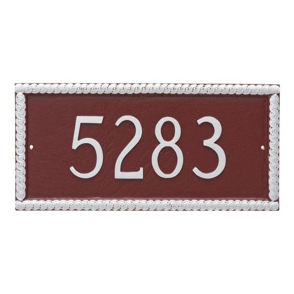 Harrison Rectangle One Line Address Sign Plaque