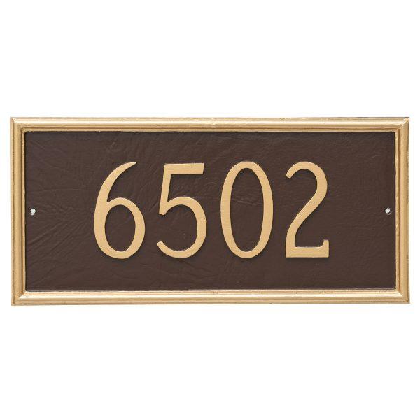 Melilla Rectangle One Line Address Sign Plaque