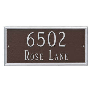 Melilla Rectangle Two Line Address Sign Plaque