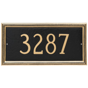 Verona Rectangle One Line Address Sign Plaque