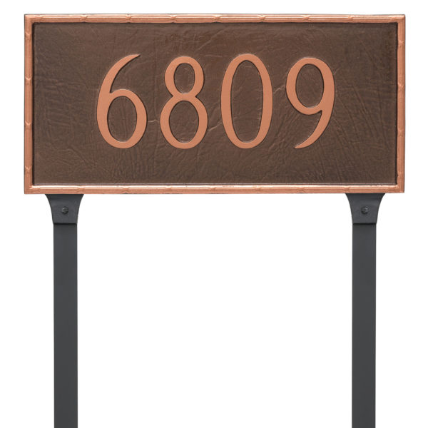 Washington Rectangle One Line Address Sign Plaque with Lawn Stakes