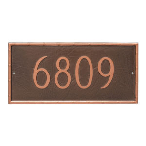 Washington Rectangle One Line Address Sign Plaque
