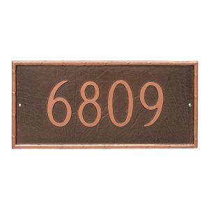 Washington Rectangle One Line Address Sign Plaque