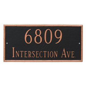 Washington Rectangle Two Line Address Sign Plaque