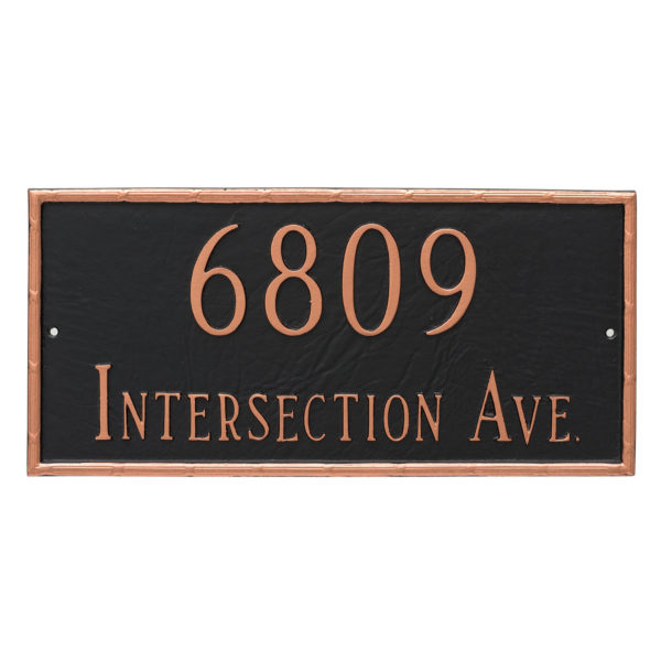 Washington Rectangle Two Line Address Sign Plaque