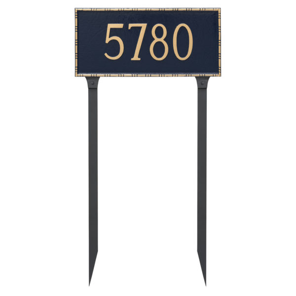 Lincoln Rectangle One Line Address Sign Plaque with Lawn Stakes
