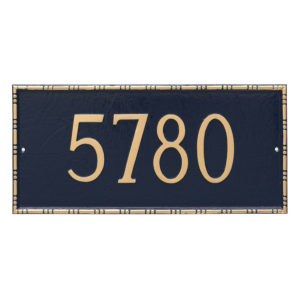 Lincoln Rectangle One Line Address Sign Plaque