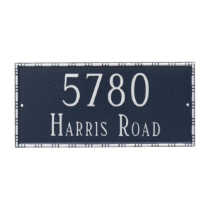 Lincoln Rectangle Two Line Address Sign Plaque