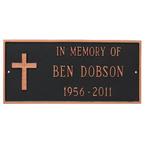 Rugged Cross Memorial Sign Plaque
