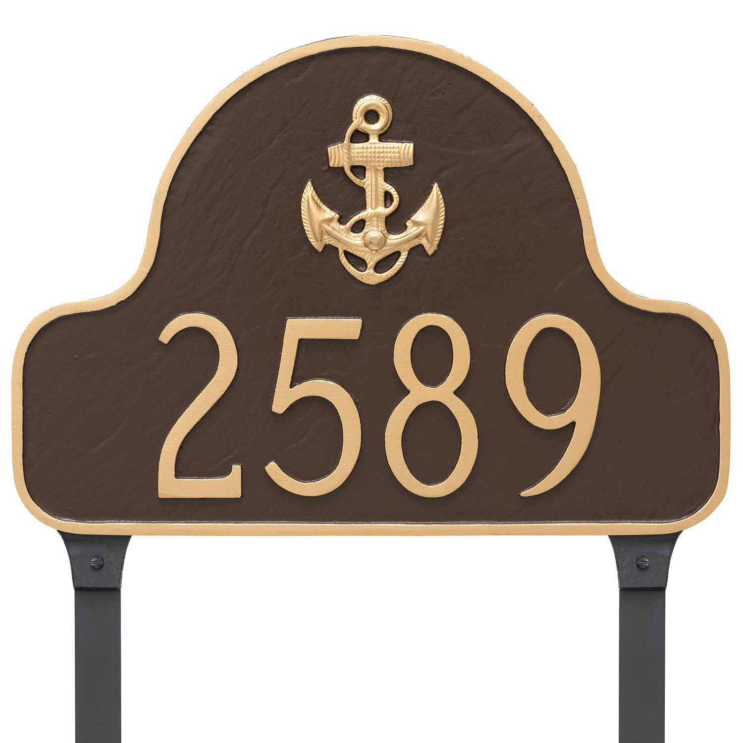 Anchor Arch Address Sign Plaque with Lawn Stakes