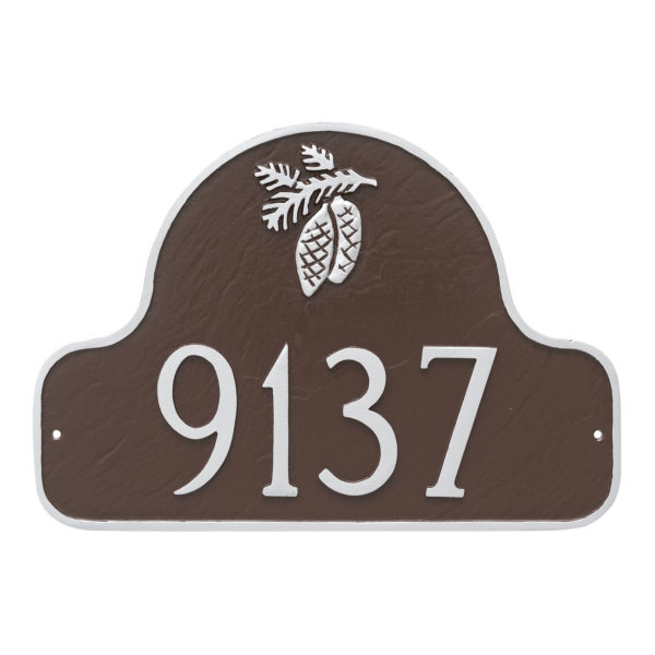 Pinecone Arch Address Sign Plaque