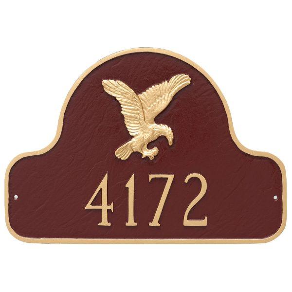 Eagle Arch Address Sign Plaque