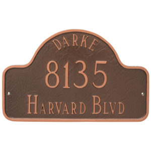 Arch with Name Large Address Sign Plaque
