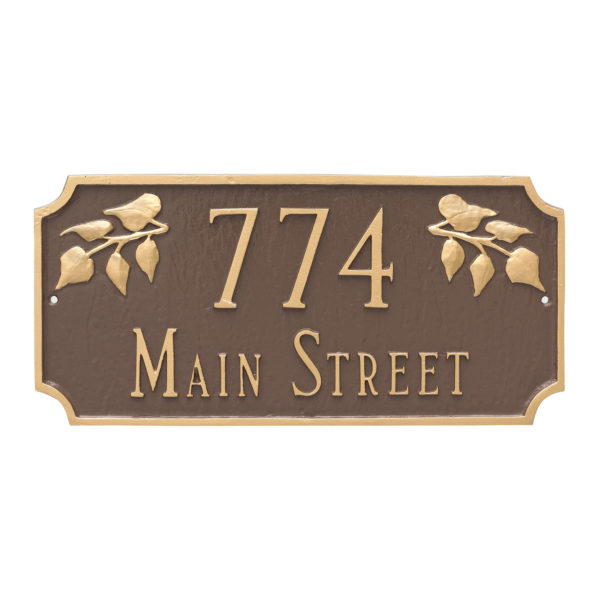 Camden Ivy Two Line Address Sign Plaque