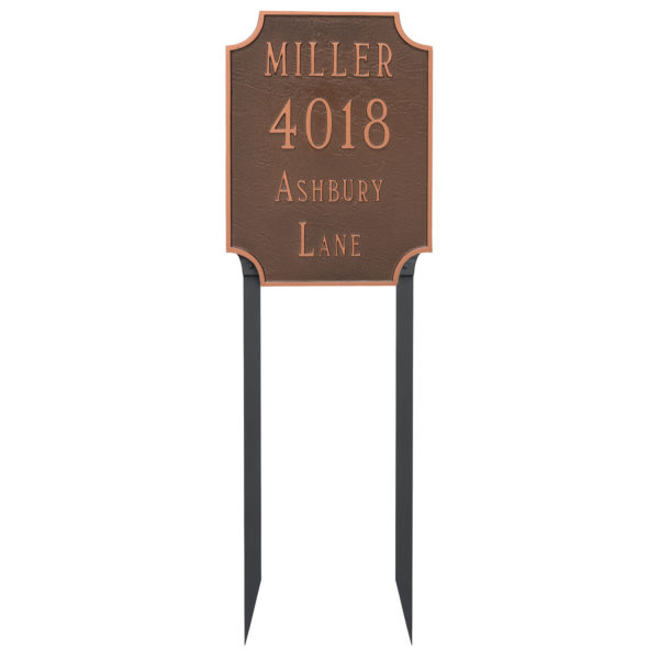 Waterford Multi Line Address Sign Plaque with Lawn Stakes