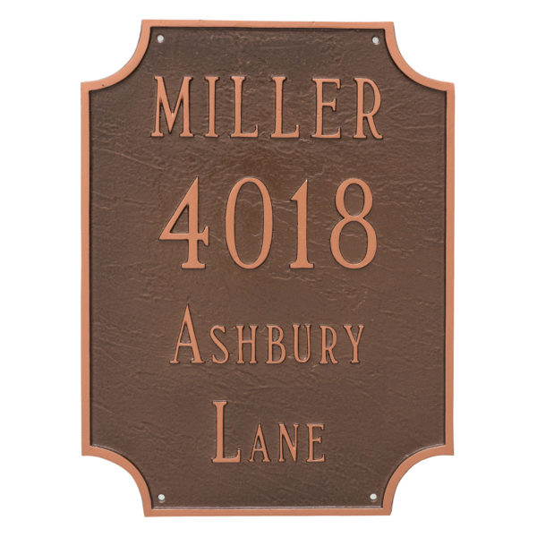 Waterford Multi Line Address Sign Plaque
