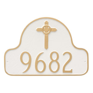 Arch with Celtic Cross Address Sign Plaque
