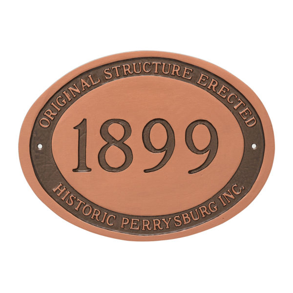 Historical Plaque with engraved date