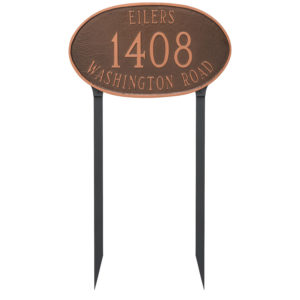 Montgomery Address Sign Plaque with Lawn Stakes
