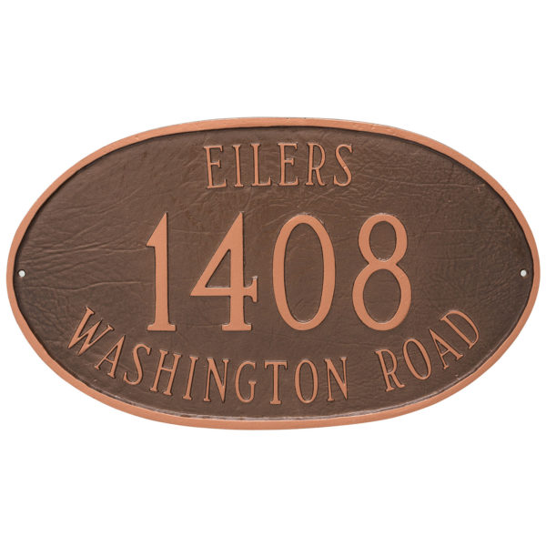 Montgomery Address Sign Plaque