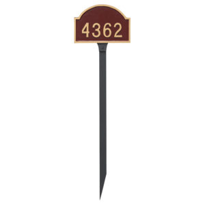 Dover Arch One Line Petite Address Sign Plaque with Lawn Stake