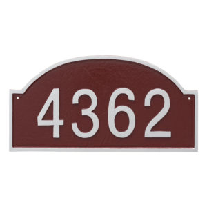 Dover Arch One Line Standard Address Sign Plaque