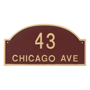 Dover Arch Two Line Standard Address Sign Plaque