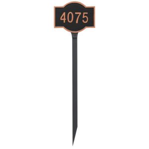 Canterbury Rectangle Petite Address Sign Plaque with Lawn Stake