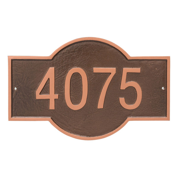 Canterbury Rectangle One Line Standard Address Sign Plaque