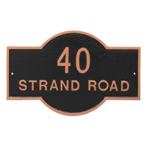 Canterbury Rectangle Two Line Standard Address Sign Plaque