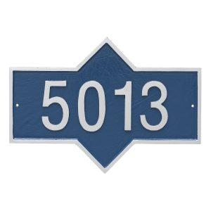 Piedmont Rectangle One Line Standard Address Sign Plaque