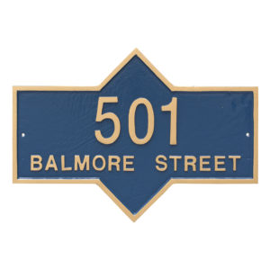 Piedmont Rectangle Two Line Standard Address Sign Plaque