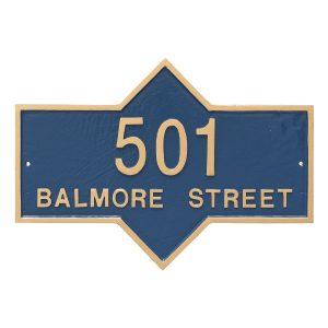 Piedmont Rectangle Two Line Standard Address Sign Plaque