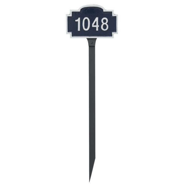 Chesterfield Petite Address Sign Plaque with Lawn Stake
