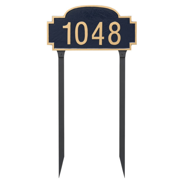 Chesterfield One Line Standard Address Sign Plaque with Lawn Stakes