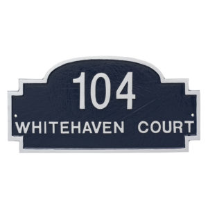 Chesterfield Two Line Standard Address Sign Plaque