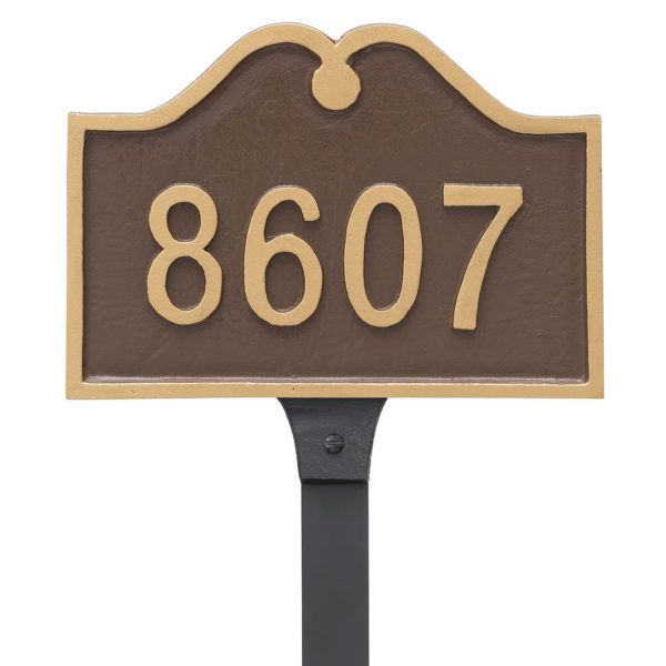 Hillsdale Arch Petite Address Sign Plaque with Lawn Stake