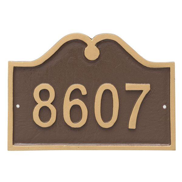 Hillsdale Arch Petite Address Sign Plaque